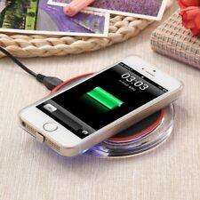 Trasparente Caricabatterie senza Fili Qi Pad + Ricevitore per Apple Iphone 5/5c/
