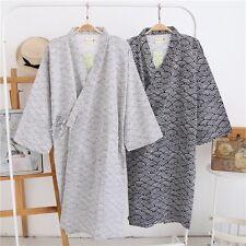 b1c7c9b7a1 Men Kimono Yukata Cotton Soft Japanese Bathrobe Robe Gown Long Sleeve  Nightwear