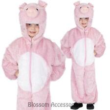 CK842 Pig Plush Farm Costume Animal Kids Child Book Week Fancy Jumpsuit