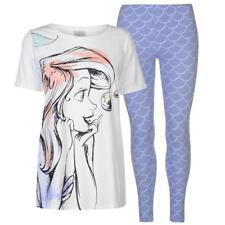 Juego de caracteres de Pijamas Pijamas De Damas Disney La Sirenita Ariel Pantalones tshirt