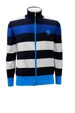 Felpa da uomo blu bianco nero a righe North Sails manica lunga zip casual moda