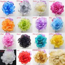 15CM Headdress Flower Glitter Wrist Corsage Hair Pin Brooch Clip Party Wedding