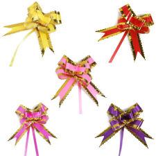 Wedding Bridal Party Gift Box Ribbon Pull Bows Decoration 5cm Width 10pcs