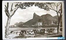 BRAZIL ~ 1950's RIO DE JANEIRO ~ BOTAFOGO E CORCOVADO ~ RPPC