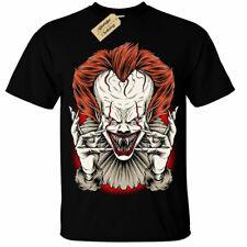 Evil Clown T-Shirt Mens it horror halloween dark scary