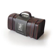 1541 London Large Barrel Leather Hand-crafted Travel Washbag (Dark / Tan Brown)