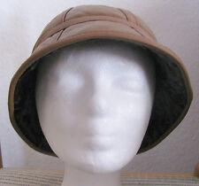 Damen und Herren Mütze aus echtem Leder + Fell