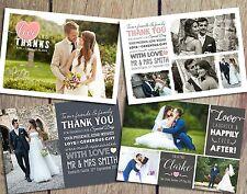 Premium Personalised Wedding Thank You Cards inc. Envelopes + Photos