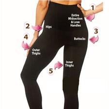 Womens HIGH WAISTED SHAPEWEAR CONTROL SLIMMING LADIES BLACK LEGGINGS SIZES 8-14