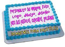 IMAGENES HOJAS IMPRESION PARA PASTEL COMESTIBLES  PERSONALIZADA ESPAÑOL/INGLES