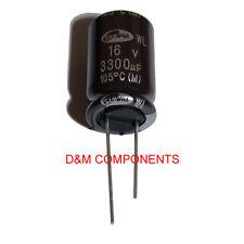 3300uF 16V Ultra baja ESR condensadores electrolíticos 105'C, paquete de 2,5 o 10