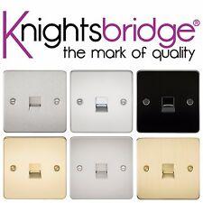Knightsbridge Piastra Piatta Telefono Master Presa A Muro Scarico Singolo