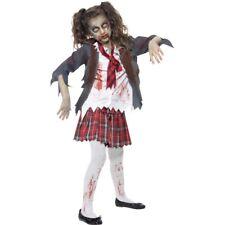 Schulmädchen Kostüm, Zombiekostüm Kinder, Kostüm Untote, Zombie Halloween Horror