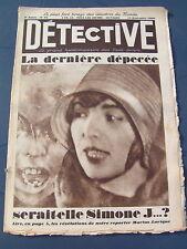 Détective 1930 CLICHY SAINT GILLES WOIPPY MARSEILLE