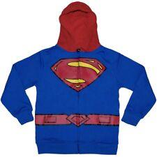 Superman Costume Juvenile Kids Hoodie New