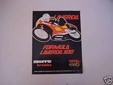 advertising Pubblicità 1980 MOTO LAVERDA FORMULA 500