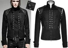 Veste blouson jeans gothique militaire officier baroque broderie bouton Punkrave