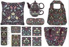 Black Floral Tea for One Coasters Mugs Cushion Glasses Case Morris Arts Style