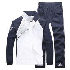 Unisex 2PCS Fashion Gym Sports Suit Casual Jacket Pants Jogging Suit Size L-5XL