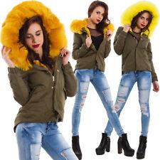 Giubbotto giacca giubbino donna giaccone parka eco pelliccia pelo 7923-MOD2