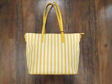 La Terre Fashion | Striped Fashion Tote Yellow