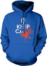 Keep Calm Zombie Blood Hand Print Joke Walking War Poster Hoodie Sweatshirt
