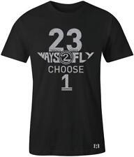 """23 Ways 2 FLY"" T-shirt to Match Retro ""Cement"" 10's Light Smoke Grey"