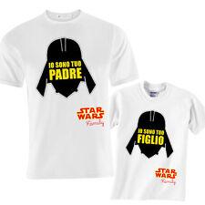 T-shirt papà e bimbo Star Wars inspired Io sono tuo padre / figlio, dart fener