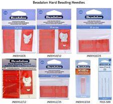 12, 10 or 6 Beadalon Hard Beading Needles