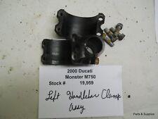 2000 Ducati Monster M 750 Left Handlebar Clamp Assembly