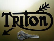 "TRITON Cut Script Motorcycle STICKERS 6"" Pair Triumph Norton FEATHERBED TIGER110"