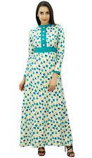 Bimba Women's Floral Winter Maxi Dress Long Printed Pashmina Blend Jilbab