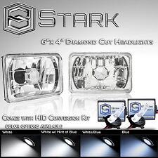 H4651 H4652 H4666 H4656 4x6 Head Light Diamond Glass Housing Lamp Chrome HID Kit