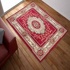 Traditional Klassisch Teppich Perser Orient Dessin Teppiche| Rot Beige 12 Größen