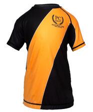 Kids Competition Rash Guard Short Sleeve Orange BJJ MMA No-gi