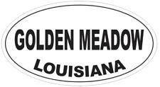 Golden Meadow Louisiana Oval Bumper Sticker or Helmet Sticker D4046