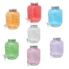 4L 5L 8L Dispensador de Bebidas Agua Jugo Jarra Cristal Grifo Tapa