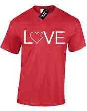 LOVE TEXT MENS T SHIRT  AMUSING HEART WORD LOVING CASUAL  PRESENT VALENTINE GIFT