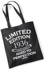 81st Regalo Di Compleanno Borsa Tote Shopping Limited Edition 1936 invecchiato a puntino Mam