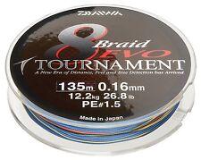Daiwa Tournament 8 Braid EVO 1000m multicolour - geflochtene Angelschnur