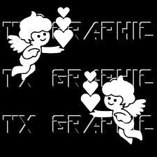 Baby Angel Decal Sticker Vinyl Heart Love Wing Kid Room Decoration , 1 set of 2