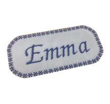 1 x Snowflake Border Personalised Name Sew 'n' Iron On Patch Motif