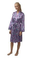 LUJO MUJER MARIPOSA Satén Kimono Bata , talla 8-22, ln45