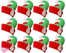 12 x elfe chapeau avec oreilles de noël accessoires costume robe fantaisie santas helper