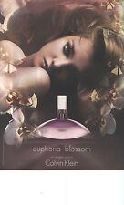 PUBLICITE  ADVERTISING 2007   CALVIN  KLEIN  parfum EUPHORIA BLOSSOM      040113