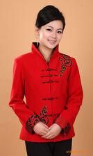 Chinese Tang suit women's woolen jacket  coat size:M-3XL