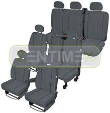 Sitzbezüge Schonbezüge SET EX VW T5 Caravelle Stoff dunkel grau