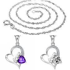 NEU Damen Halskette mit Anhänger Herz LOVE 925 Silber Pl 11 Zirkonia  27A