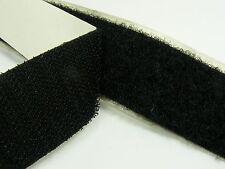 BLACK Strong SELF Adhesive HOOK & LOOP Fastener TAPE ~20mm/ 30mm/ 50mm