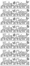 """Ostersticker, Aufkleber, Klebeschrift """"Frohe Ostern"""", 1 Bogen"""